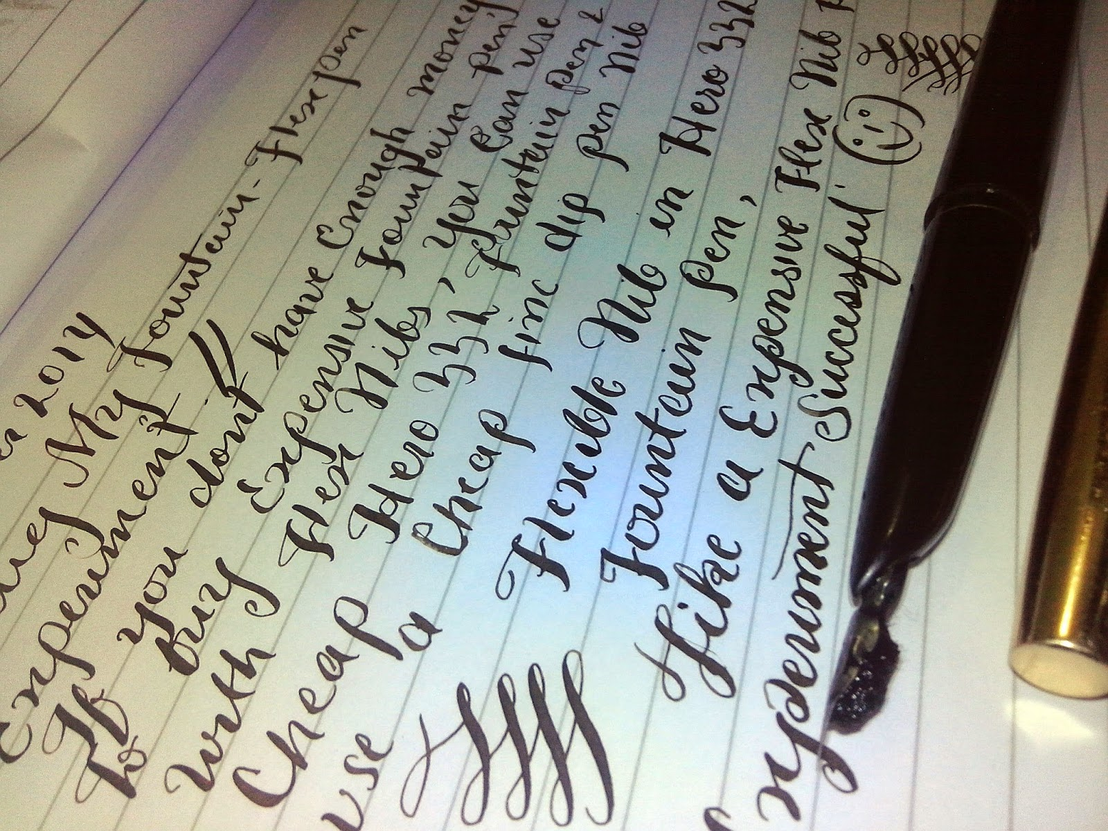 flex nib fountain pen