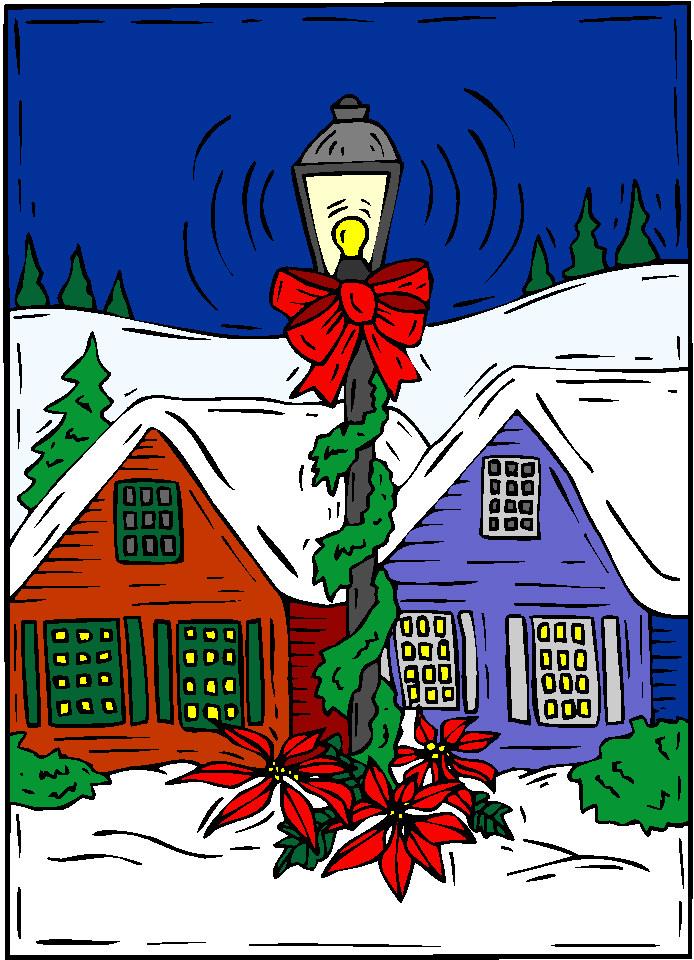 Gifs y fondos paz enla tormenta navidad casas navide as - Casas adornadas de navidad ...