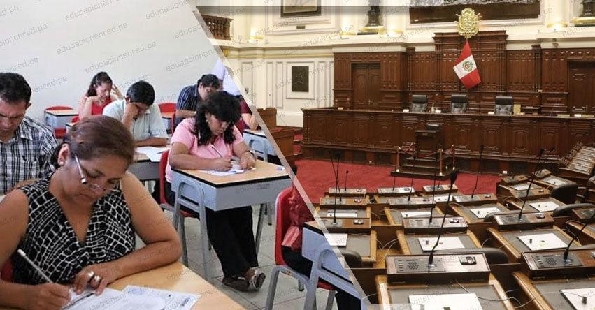 CONGRESO DE LA REPÚBLICA: Presentan Proyecto de Ley para reponer a cerca de 14 mil docentes cesados por no aprobar examen
