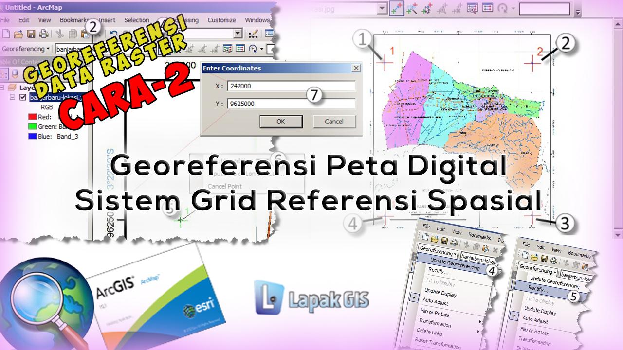 Georeferensi Peta Digital dengan Sistem Grid Referensi Spasial