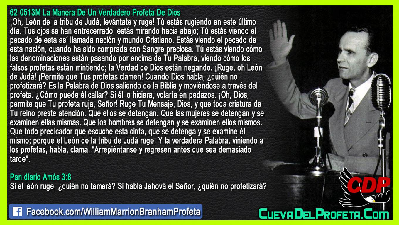 Oh, Dios, permite que Tu profeta ruja, Señor - William Branham en Español