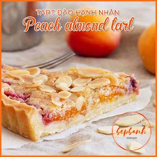 Tart đào hạnh nhân - Peach almond tart 2