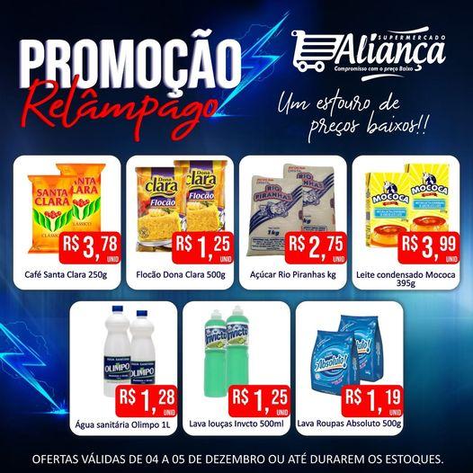 Promoção Relâmpago no supermercado Aliança em Riacho dos Cavalos, Veja