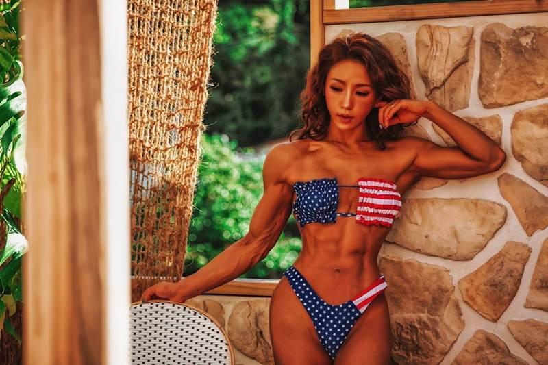 Muscular barbie girl