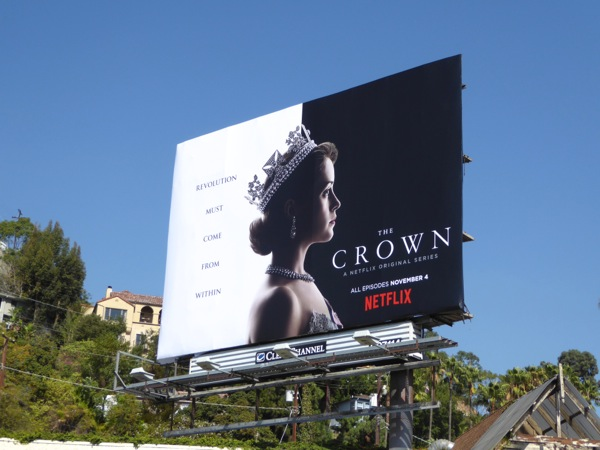 Crown series premiere billboard