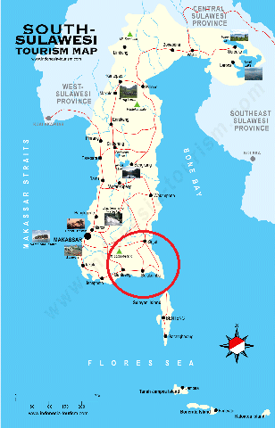 Peta Sulawesi Selatan