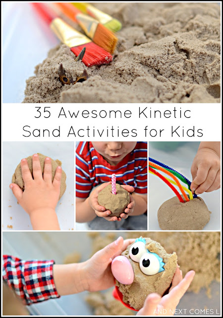 35 Awesome Kinetic Sand Activities for Kids from And Next Comes L