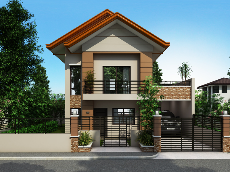 Collection 50 beautiful narrow house design for a 2 story 2 storey narrow lot homes