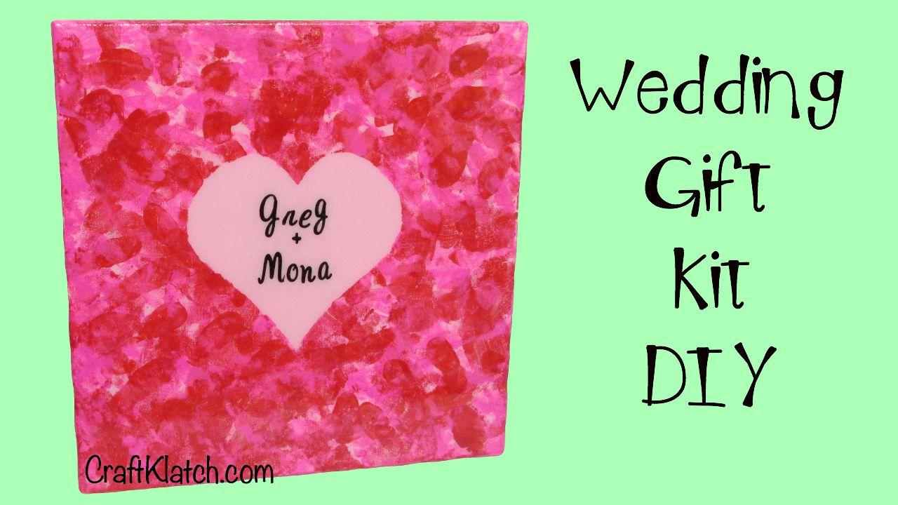 Craft Klatch Wedding Canvas Gift Kit Diy Art Resin