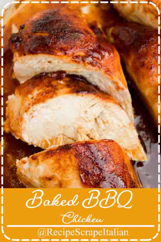 Chicken breast is made in our house several times a week. It's easy to make and something my kid's love. I mean who doesn't love chicken! I love coming up with new ways to make it and this Baked BBQ Chicken is favorite of ours. It's a classic really but a simple way to dress up a chicken breast and make it something new. This recipe is full of flavor and cooked to perfection. We have BBQ chicken at least once a week either this recipe or another family favorite my Baked BBQ Chicken Drumsticks. I actually have lots of BBQ Chicken recipes so make sure to check out the rest when you are done with this one.