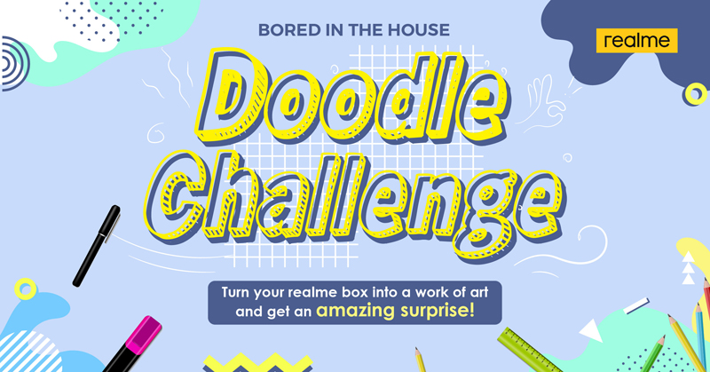 Fight your boredom and doodle on your realme box
