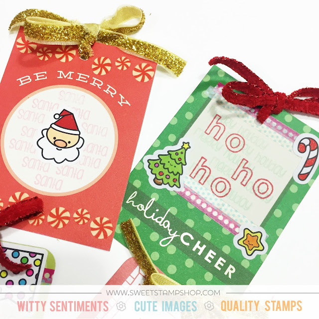ScrappyScrappy: Christmas Gift Tags with Sweet Stamp Shop #sweetstampshop #scrappyscrappy #sssfallinto #stickysweet #stamp #planner #christmas #holiday #gifttag #craft #coloring #copic