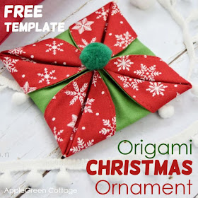 Origami Christmas Ornaments.Origami Christmas Ornaments Applegreen Cottage