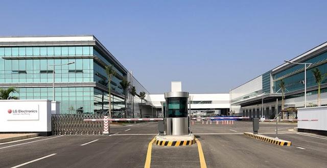 Fábrica da LG no Vietnã.