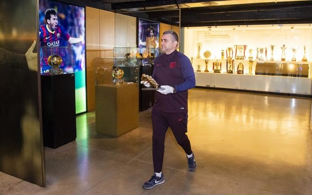 Messi's 6th Golden Shoe On Display In Museum