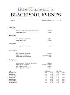 Blackpool Shows and Events November 16 to November 22 - PDF What's On listings print-off
