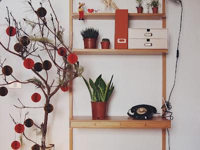 haer un árbol de decoración original en casa y de estilo nórdico
