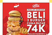 Promo Smack Burger Terbaru Beli 3 Bayar 74 Ribu 17 - 18 Agustus 2019