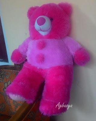 Agbasya boneka teddy bear pink variasi