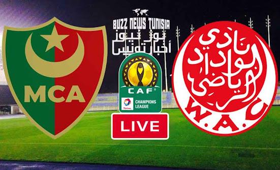 Watch Match Mouloudia Alger vs Wydad Casablanca  Live Streaming