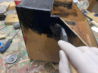 Painting the enclosure
