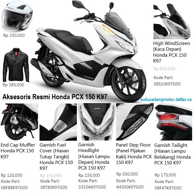 Daftar Harga Suku Cadang Honda PCX 150 Lokal dan CBU