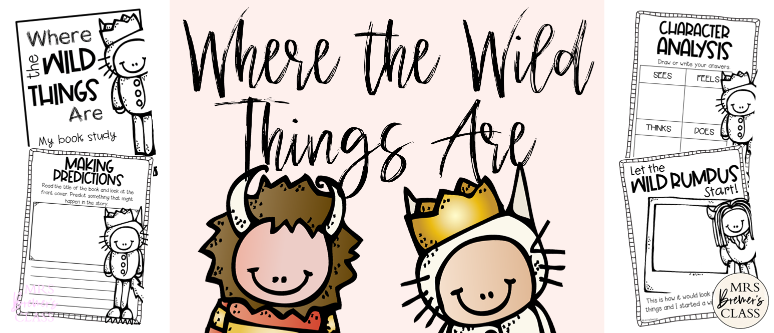 Where the Wild Things Are book study companion activities to go with the story by Maurice Sendak. These activities are fun and engaging, and are standards based! Perfect for your little 'Wild Things' in K-1.