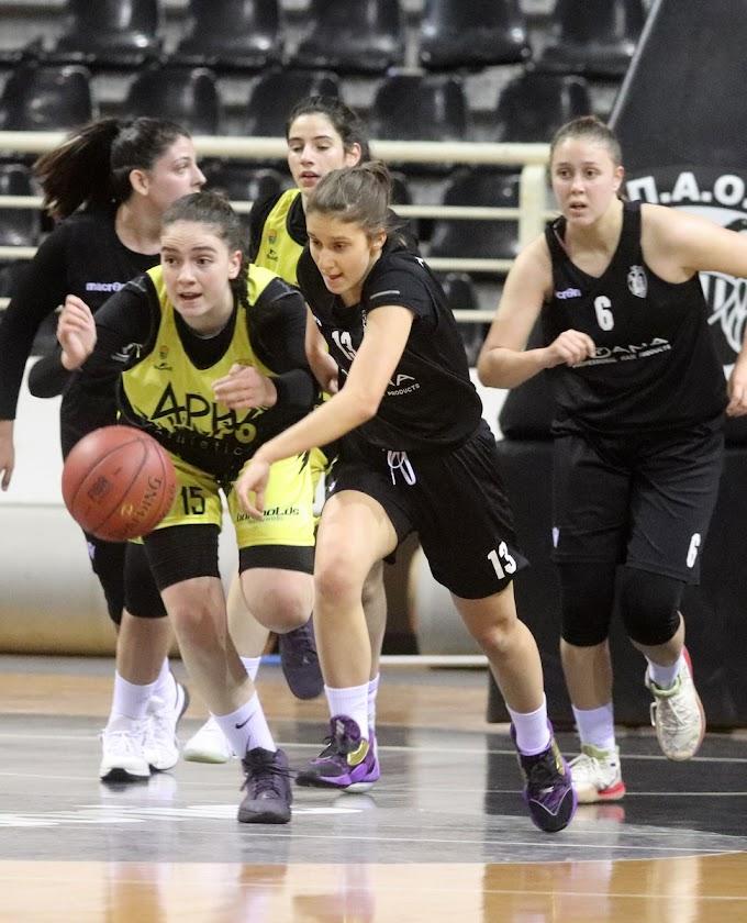 Ανετο «διπλό» στο PAOK Sports Arena για τις κορασίδες του Αρη-Φωτορεπορτάζ του Κώστα Γκόρα