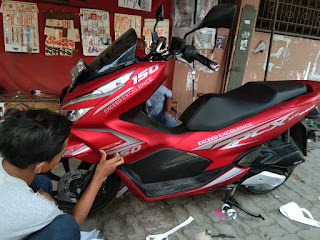 Cutting Stiker Decal PCX terbaru Motif