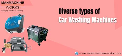 types of car washing machines