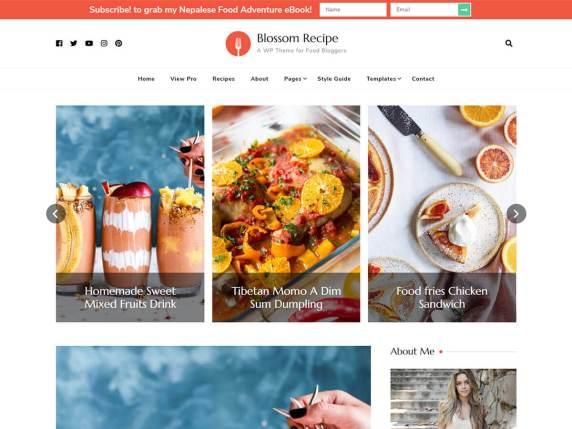 WordPress Tema-Blossom Recipe