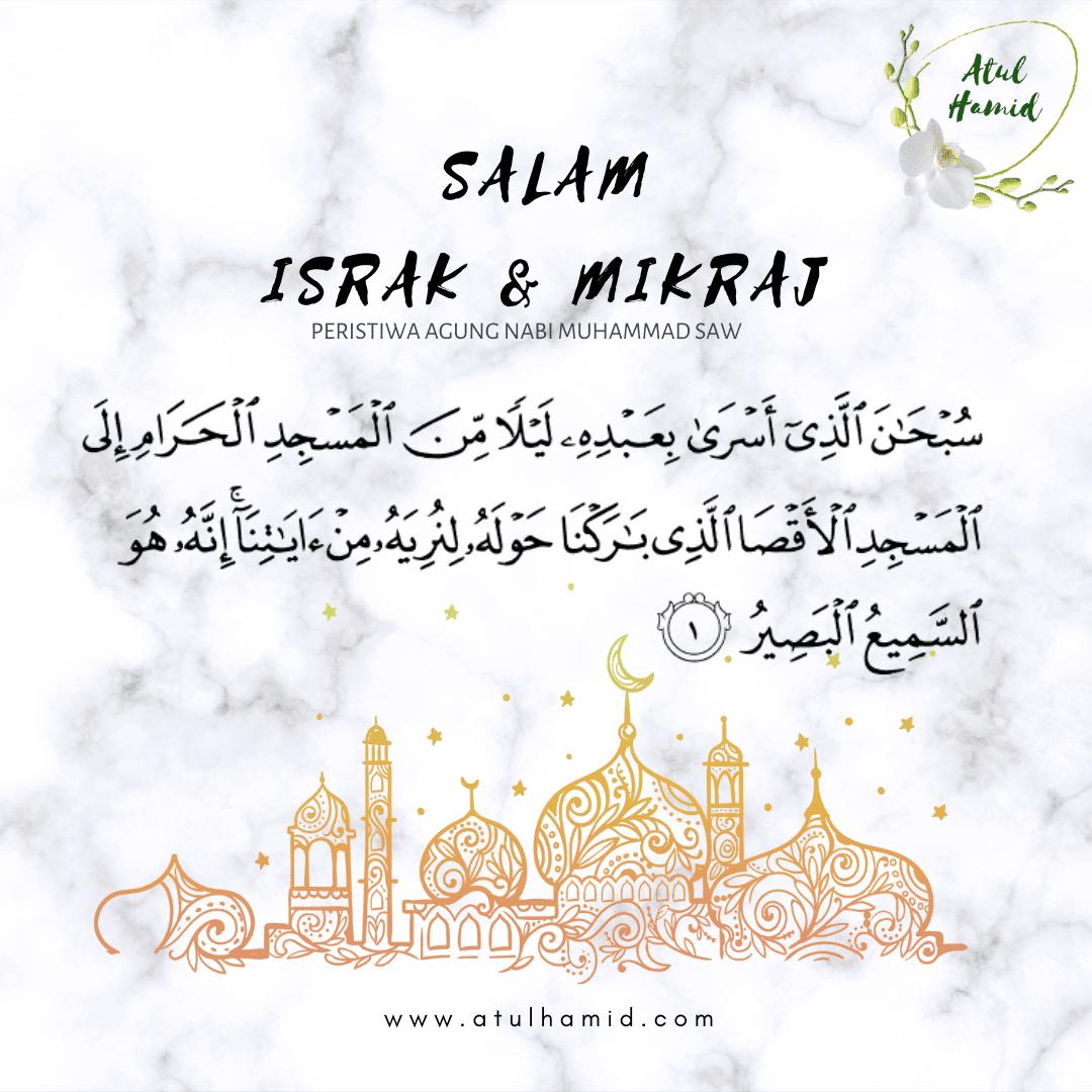 Salam Israk & Mikraj, 1442h