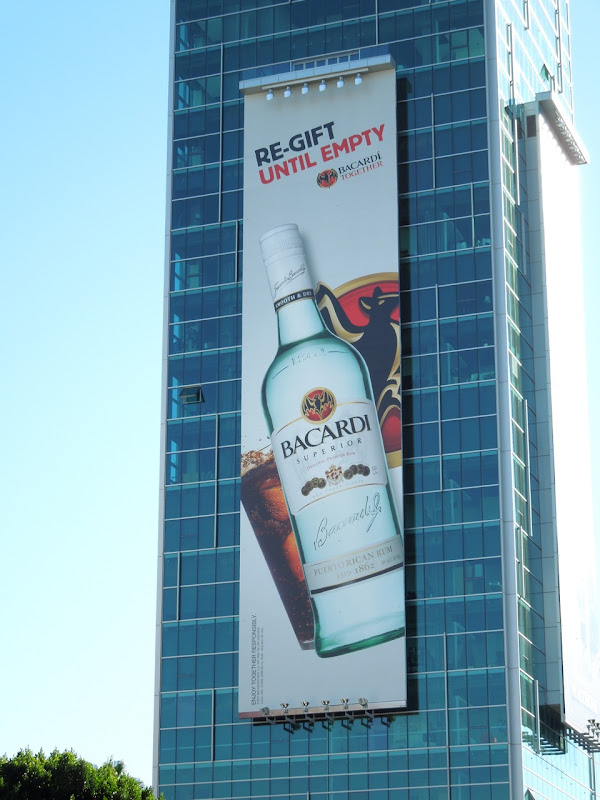 Giant re-gift Bacardi billboard
