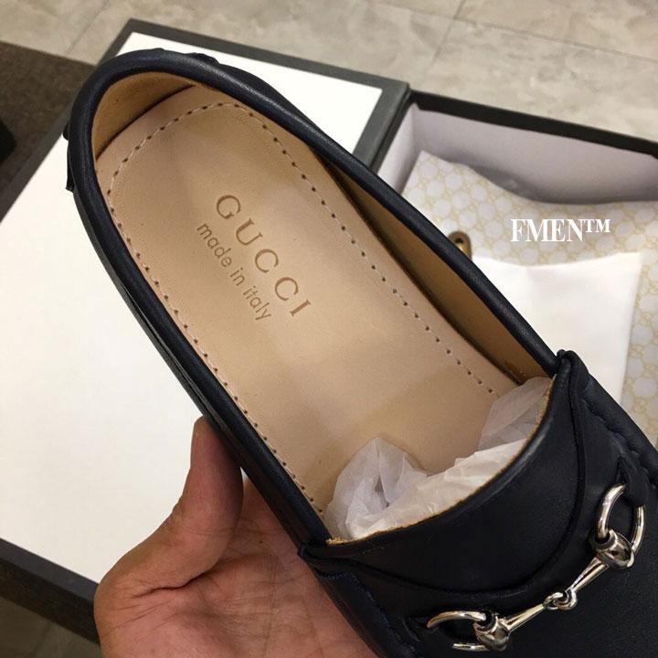 Giày lười nam Gucci siêu cấp đế bệt GNGG-5795