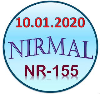 Kerala lottery guessing Nirmal NR-155 dated 09.01.2020