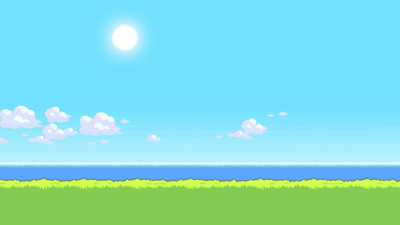 8 bit landscape wallpaper