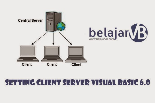 Cara Setting Client Server di VB 6.0 dengan Database SQL Server