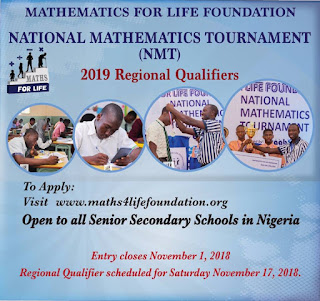 Maths 4 Life Foundation: National Mathematics Tournament (NMT) - 2019