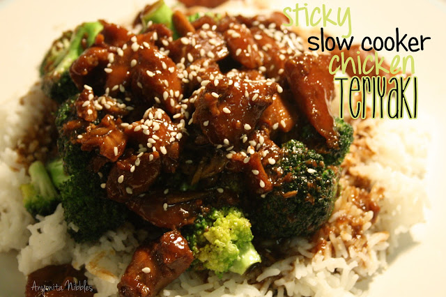 Sticky slow cooker chicken teriyaki