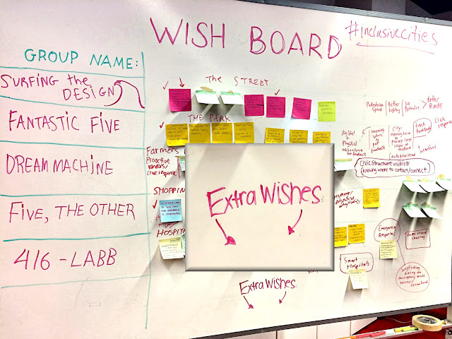 Wish Board with request to write in Extra Wishes.