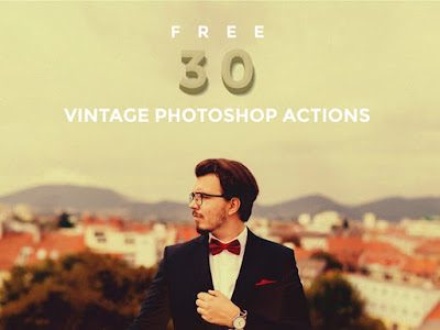 30 Free Vintage Photoshop Action