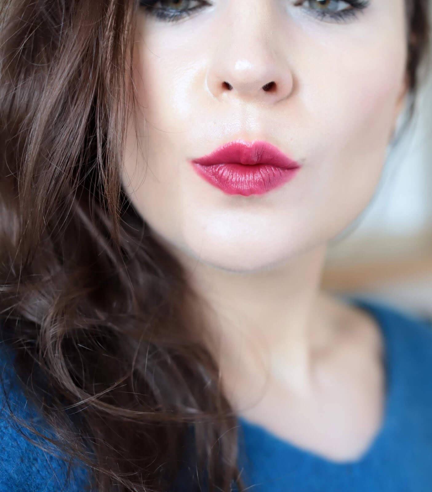 Kosas Weightless Lip Color Darkroom swatch