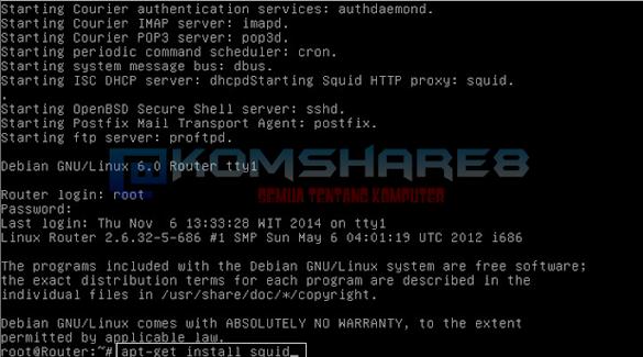 Cara Install dan Konfigurasi Proxy Server pada Debian Server