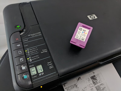 impresora hp con cartucho 60 tricolor