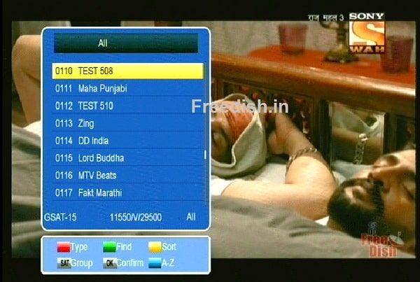 Sony Wah DD Free dish LCN / Channel Number is 80