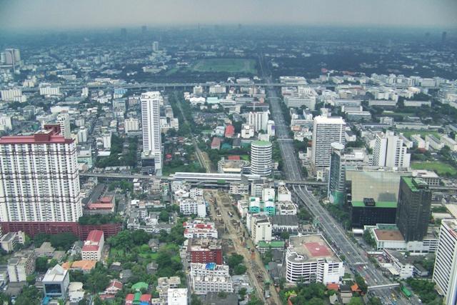 Vistas desde Baiyoke Tower 2 en Bangkok
