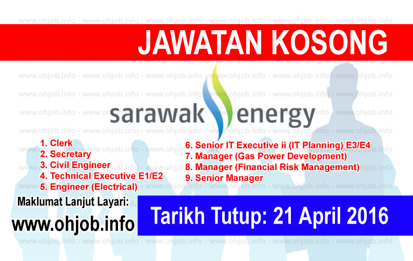 Jawatan Kerja Kosong Sarawak Energy logo www.ohjob.info april 2016