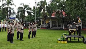 Polres Bima Gelar Upacara Serah Terima Jabatan, Kabag Ops, Kabag Ren, Kasat Lantas dan Dua Kapolsek