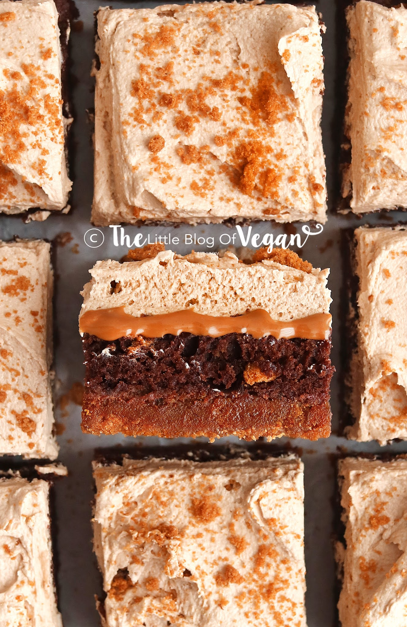 Biscoff brownies with Biscoff spread