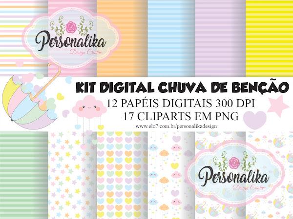 KIT DIGITAL CHUVA DE BENÇÃO PREMIUM